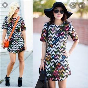 Top shop Blurr Jacquard A-lone dress